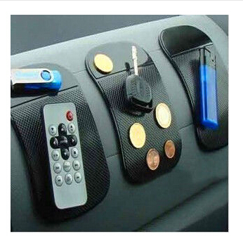 2015 HOT SALE Powerful Silica Gel Magic Sticky Pad Anti Slip Non Slip Mat for Phone Car Accessories With 1pcs Dust Plug(China (Mainland))