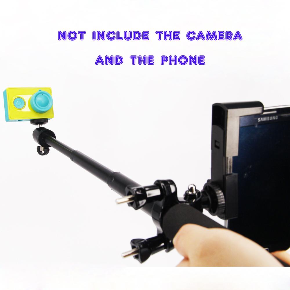 Xiaomi yi Monopod Tripod+Mini Tripod Mount Adapter +Phone Clip+Bike Holder Handlebar For Xiao Yi Action Camera Accessories Kits(China (Mainland))