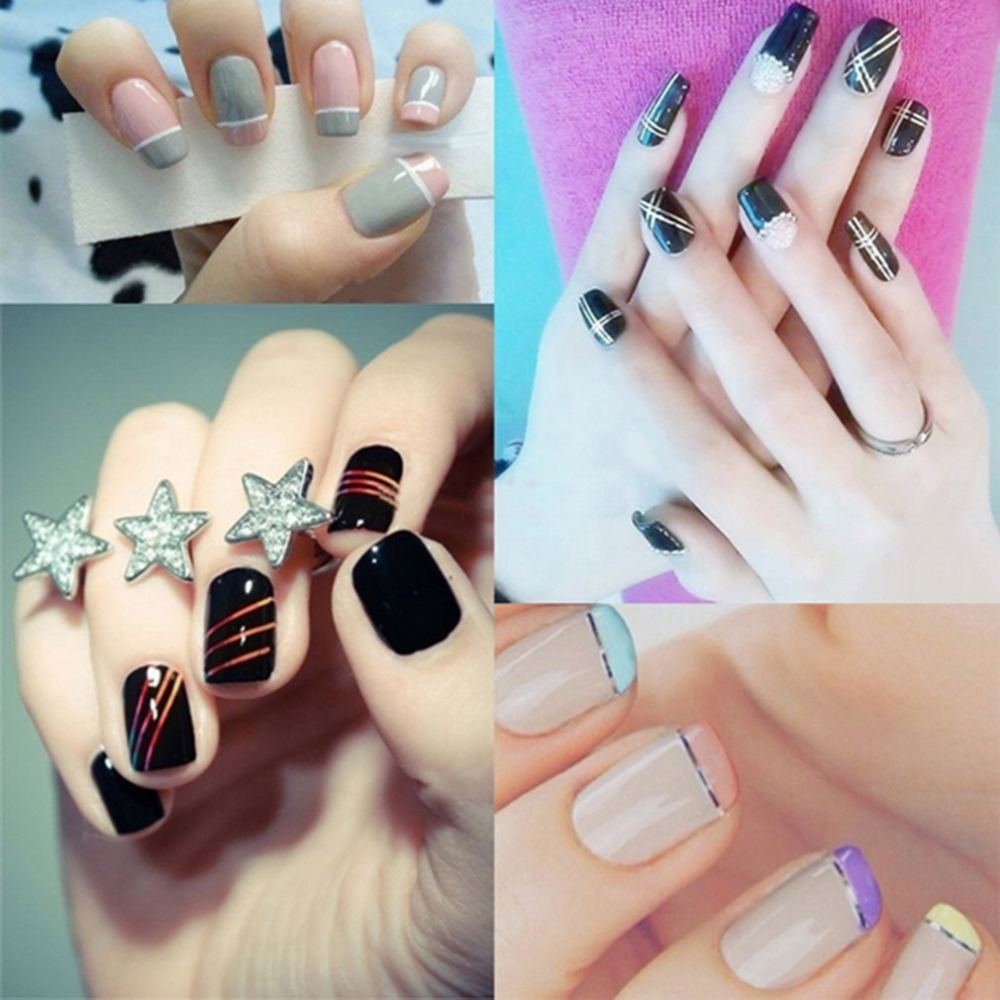 Nail Art Using Striping Tape: Aliexpress.com : Buy 30Pcs Mixed Colorful Beauty Rolls