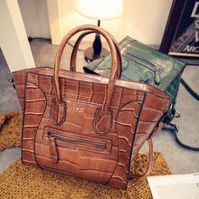 PU Leather Shoulder bags women leather handbags messenger bag shoulder Bags ladies high quality Vintage Handbag Smile