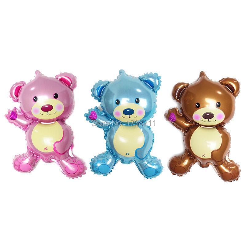 2015 Newproduct Mini cute bear helium foil balloons, Baby toy cartoon mini bear inflatable balloon, Palloncini party mini bear(China (Mainland))