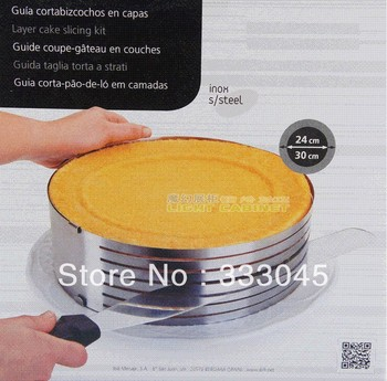 FREE shipping size adjustable stainless steel circle mousse ring retractable cake mould mold baking tool set 24-30cm bakeware