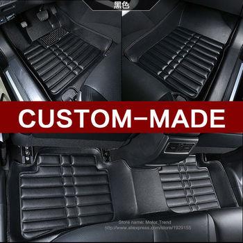 Custom fit car floor mats for Nissan altima Rouge Murano Sentra Sylphy versa Tiida 3D car-styling carpet floor liner RY82