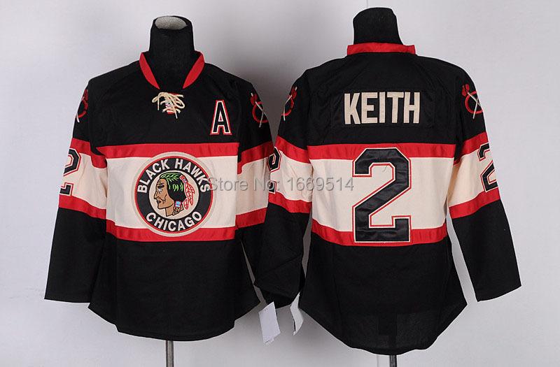 Free Shipping Chicago Blackhawks #2 Duncan Keith New Third black Hockey ,2 Duncan Keith Black 3rd Jerseys(China (Mainland))