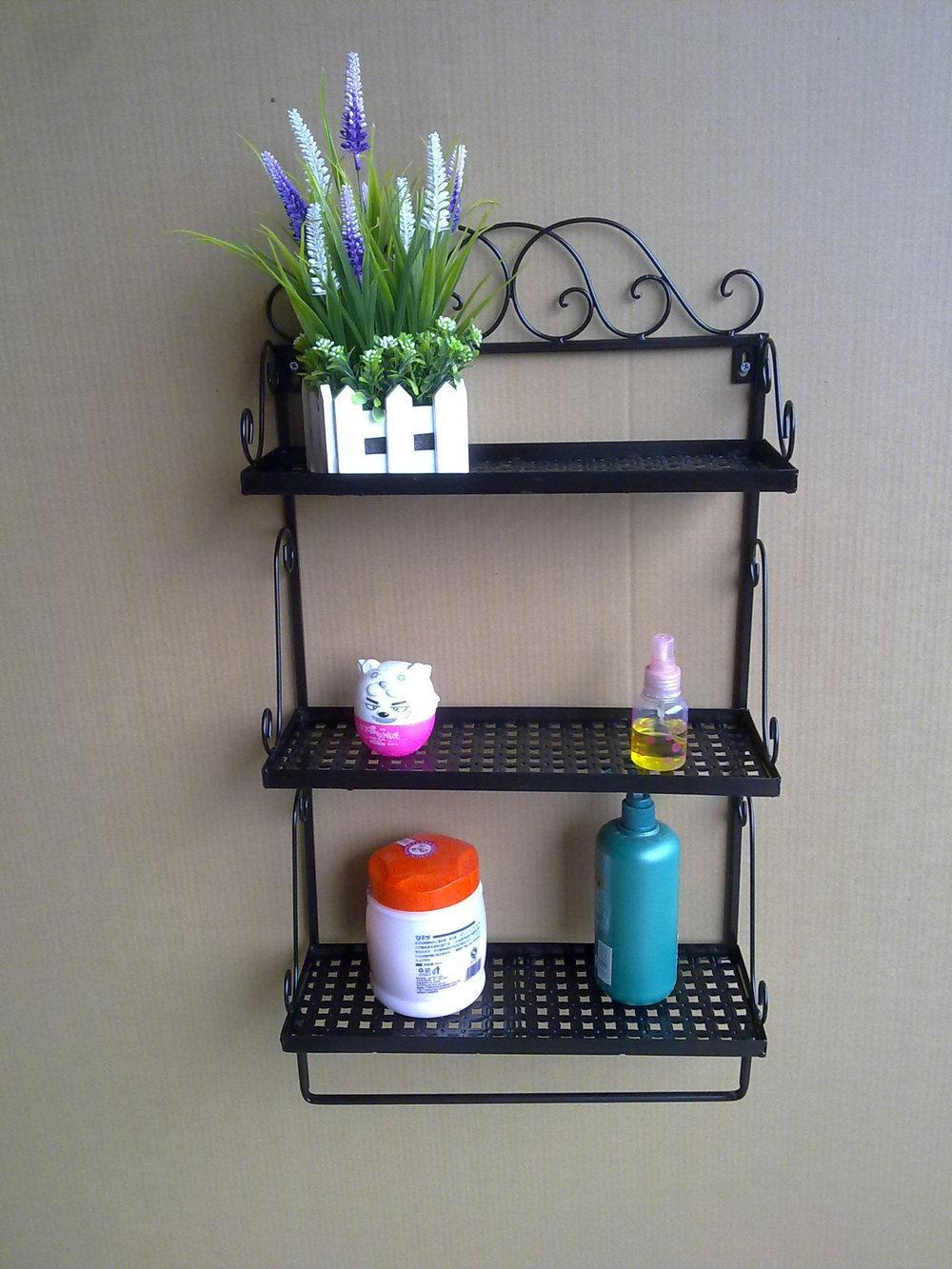 2014 wrought iron bathroom shelves towel rack bathroom - Accessories for bathroom shelves ...
