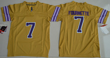 Wholesale Price 2016 Youth 7 Leonard Fournette 3 Odell Beckham Jr. College Jersey Yellow(China (Mainland))