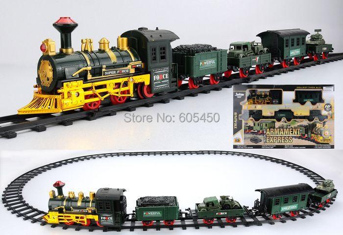 Promotional Flashing zoo track train kids train track wagon rail car zoo track train(China (Mainland))