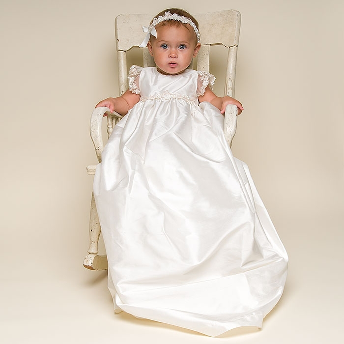 ZQ-1 baby girl white christening dress o-neck cheap baptism dresses baby girl dresses special occasion long baptism dress Robe r(China (Mainland))