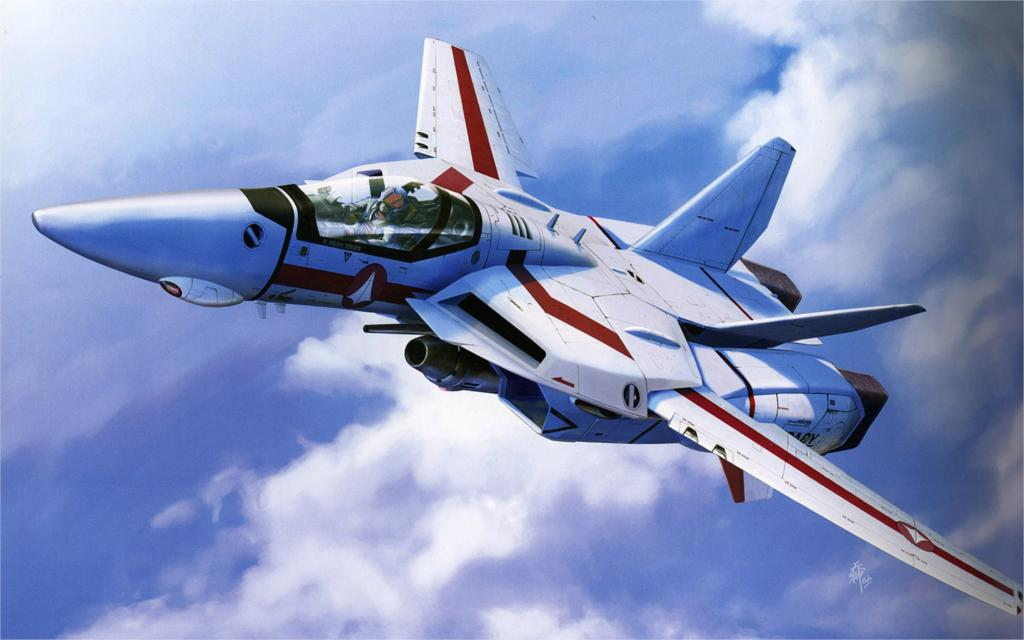 Aircraft macross military valkyrie robotech jet aircraft 4 Sizes Home Decoration Canvas Poster Print(China (Mainland))