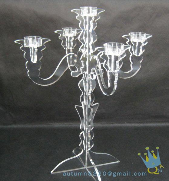 CH (7) Dia.35 x H50cm Clear candle display racks(China (Mainland))