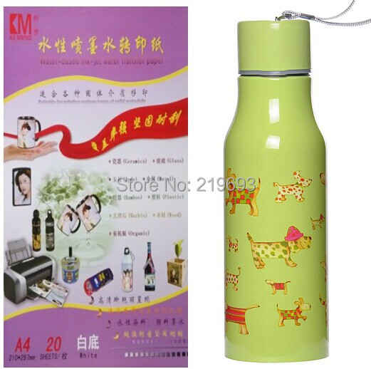 For Metal (100 pieces/lot) A4 inkjet white color background water transfer paper(China (Mainland))