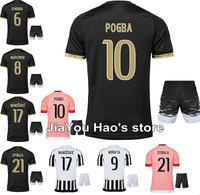 15 16 terzo nero rosa fai da te personalizzati morata mandzukic calcio kit uniforme uomini della camicia dybala pogba khedira calcio jersey