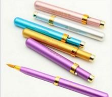 New 2 Pcs Portable Gloss Lip Brush Brand Travel Capped Retractable Lipstick Brush Designer Chesp Women
