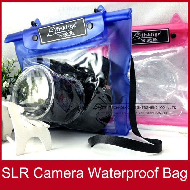 10PCs/lot Fishfine Brand SLR Camera Waterproof Dry Bag Case For Canon/Nikon Wholesale FREE SHIPPING