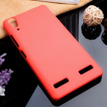 High Quality 6 Colors Ultra thin Oil-coated rubberized Plastic Case For Lenovo K3 A6000 Phone case shell hood protective Cover