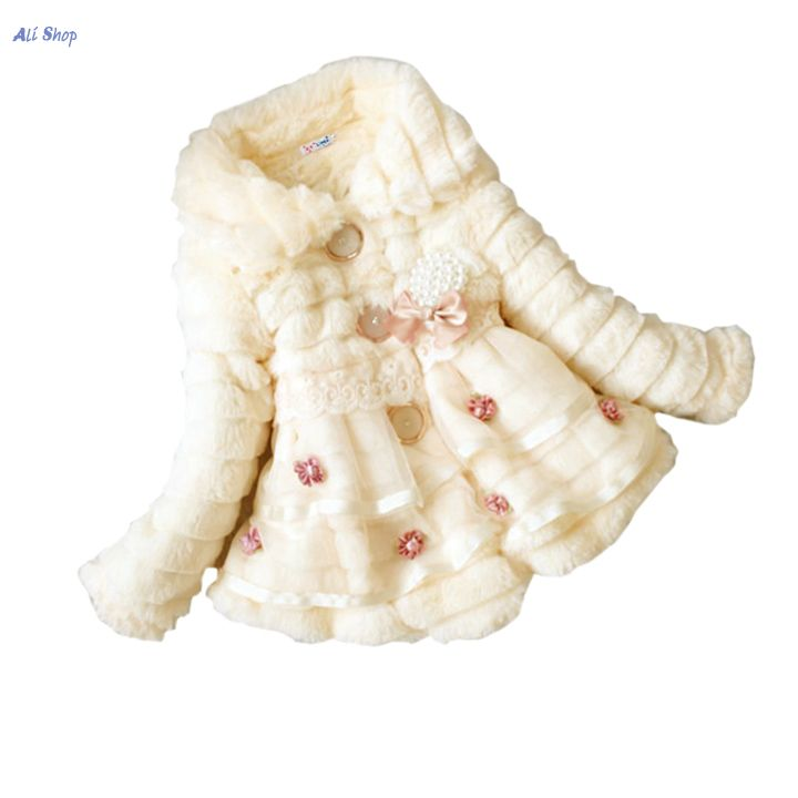 Childrens Toddlers Girls Junoesque Baby Faux Fur Fleece Lined Coat Kids Winter Warm Jacket NLYP<br><br>Aliexpress