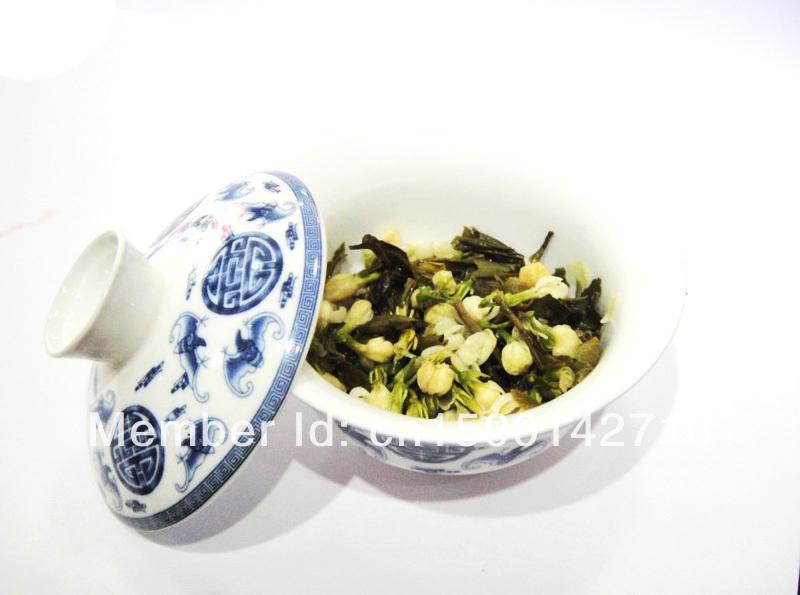 Гаджет  Promotion! Organic Jasmine Flower Tea, Green Tea 50g +Secret Gift+Free shipping None Еда