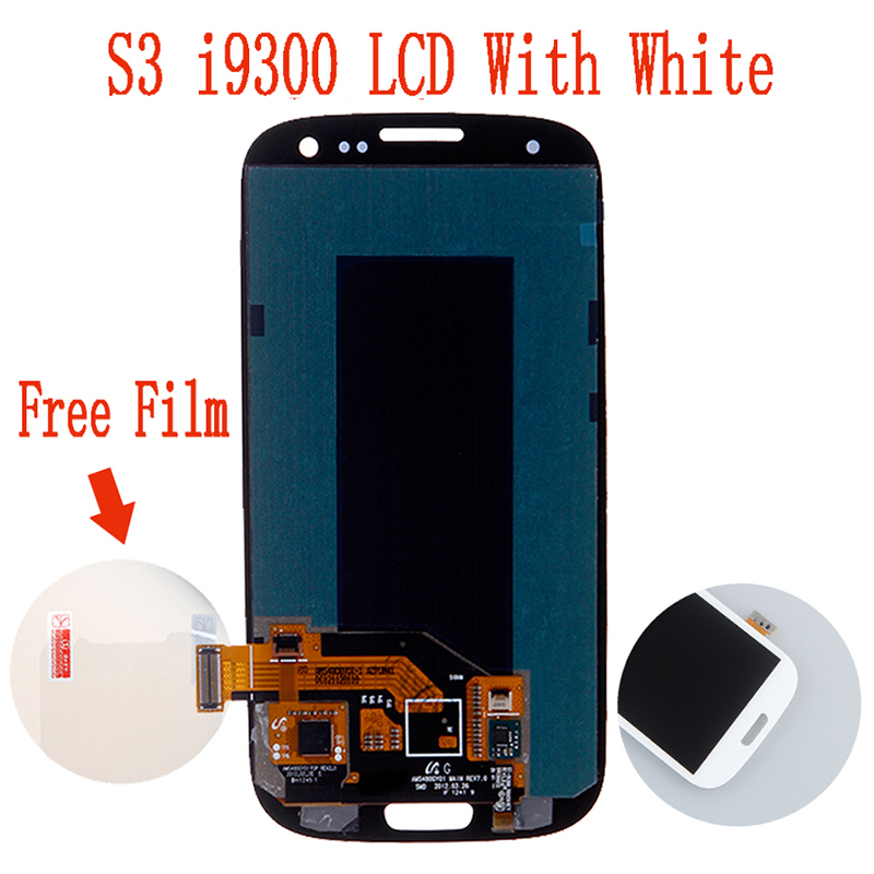 Free Shipping Replacement LCD For Samsung Galaxy S3 III i9300 Display with Touhcscreen Assembly White(China (Mainland))