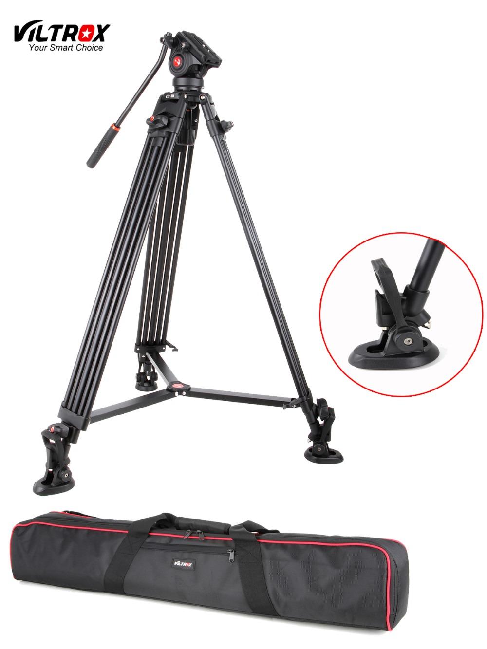 1.8M Viltrox VX-18M Pro Heay Duty Aluminum Video Tripod + Fluid Pan Head + Carry Bag for Camera DV DSLR Very Stable(China (Mainland))