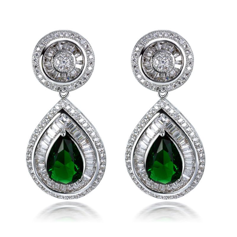 L&amp;Y New Women Big Large Water Drop AAA CZ Earrings 3 Colors Combinations Party Jewelries Lead Free Platinum Plated Silver Pins<br><br>Aliexpress