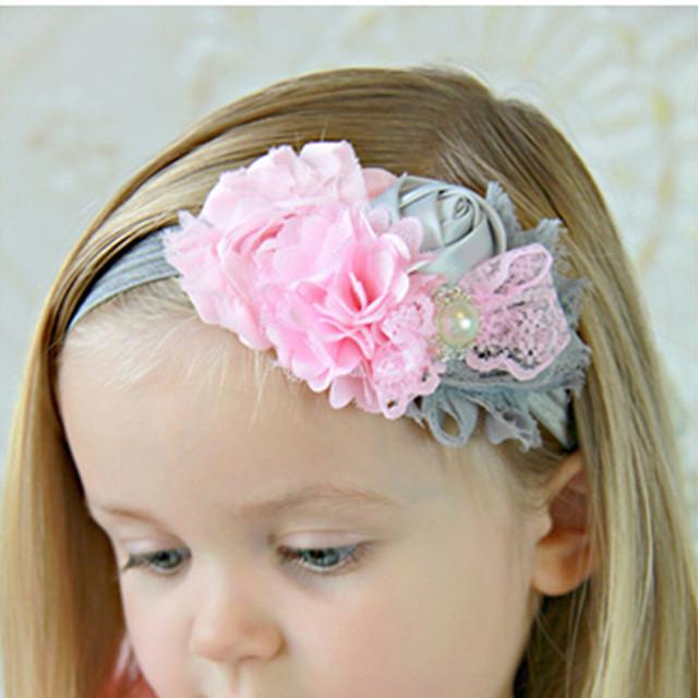 8 Clrs дети Младенческой Детские малыш девушки кружева многоцветный роуз и бахромой ...