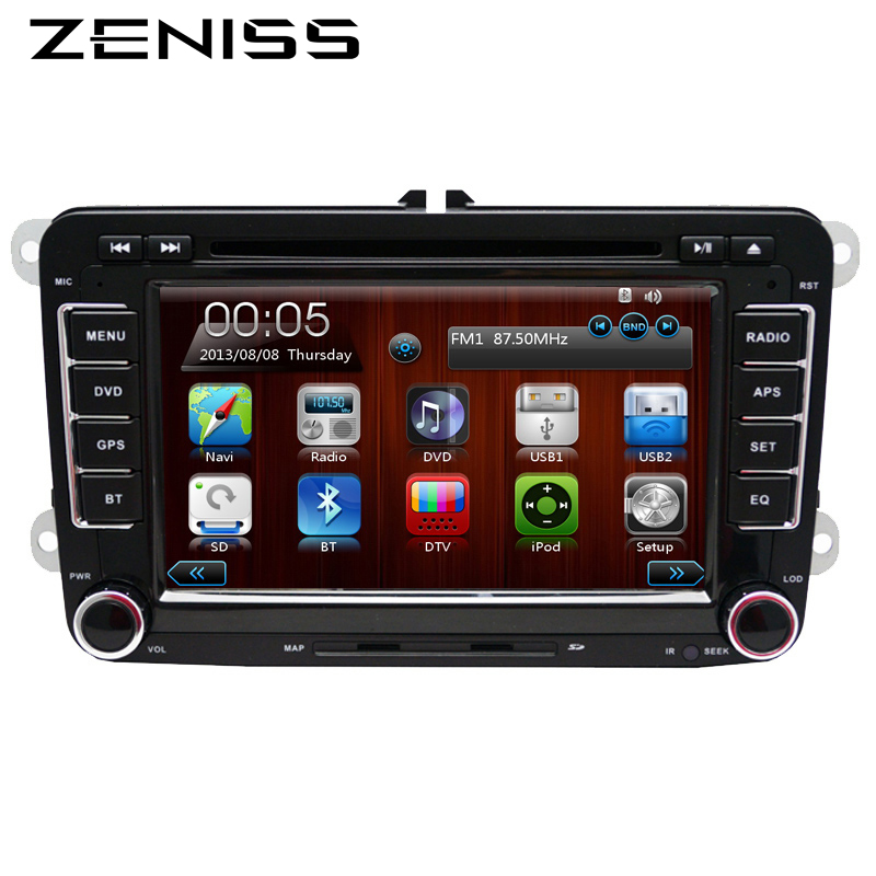 Free shipping 2 Din 7 Inch Car DVD Player For VW Volkswagen Passat POLO GOLF Skoda Seat With 3G USB GPS BT SWC FM RDS Free Maps(China (Mainland))