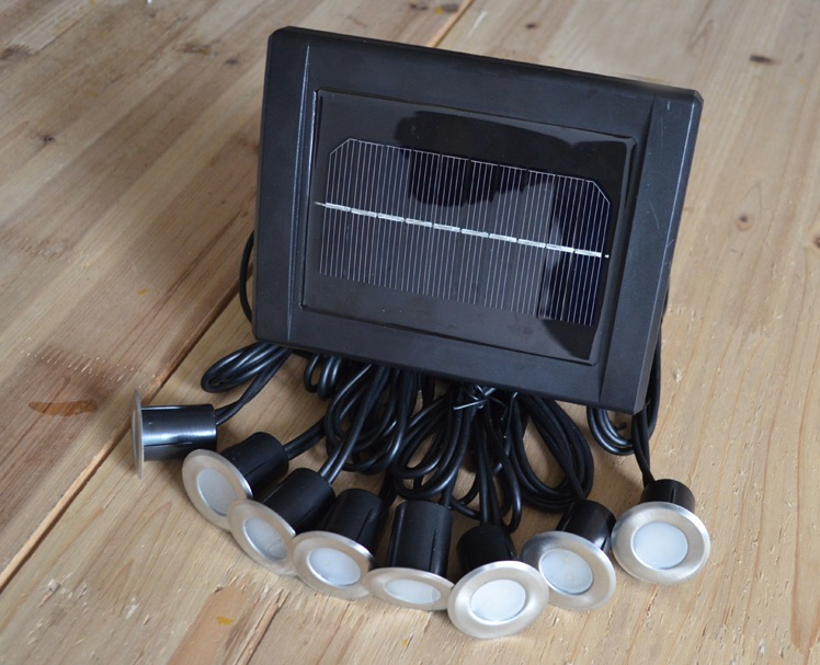 solar power led deck lights floor lamp stair light ip67 outdoor