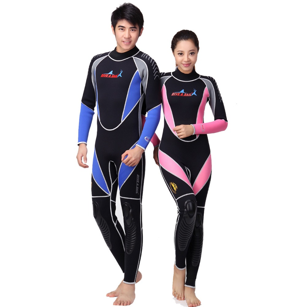 3MM neoprene piece warm diving suit full suit diving suit thick winter bathing suits supplies surf wear(China (Mainland))