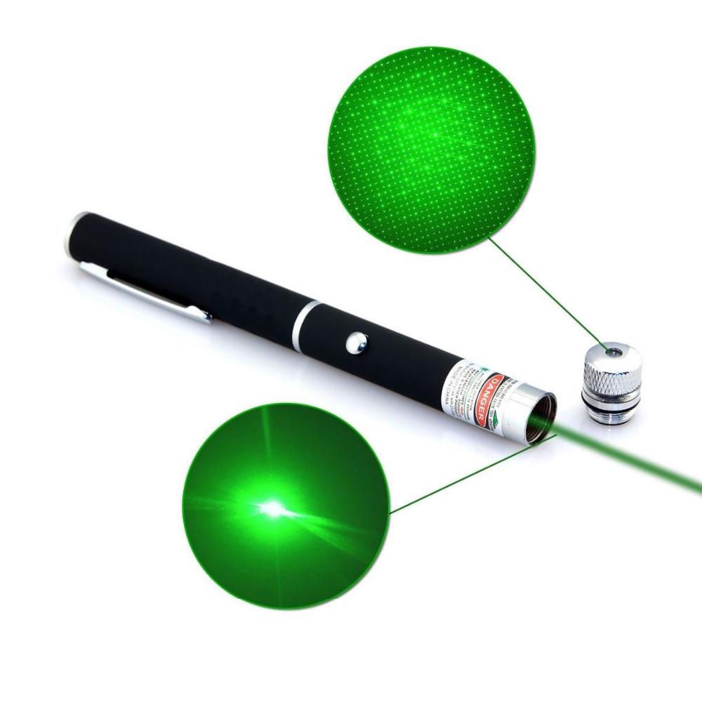 6in1 Green Laser 532nm 5mW Ray Beam Light Laser Pointer Pen Copper Presenter 6 Styles Different Lazer Patterns + Star Caps 10PC<br><br>Aliexpress