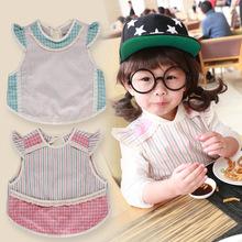 Korean baby cotton dressing gown infant child eat half waterproof anti sleeveless dress princess painting aprons free shipping(China (Mainland))