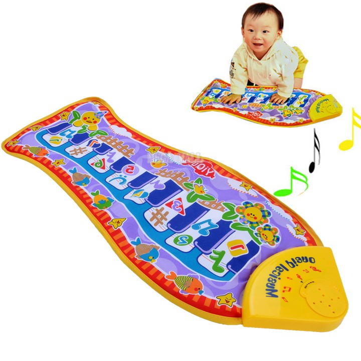 Christmas Gift Child Piano Baby Music Toys Fish Animal Mat Touch Kick Play Fun Learning Toy & Educational Toys ZDD(China (Mainland))
