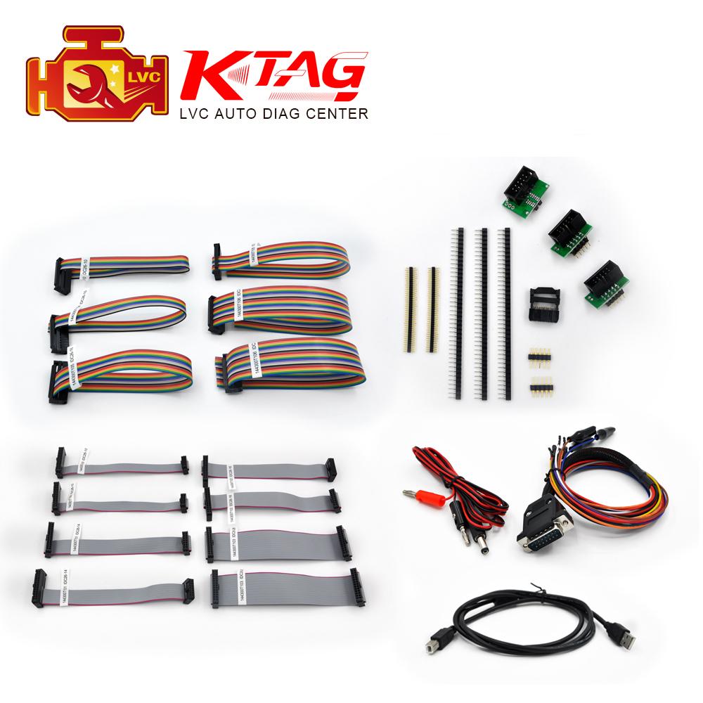 Top-rated k-tag V2.10 full set cable kits K tag ECU Programming Tool KTAG Master Version no token limited Free Shipping(China (Mainland))