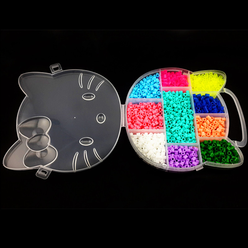 1800pcs Hama/perler Beads DIY 5mm with HK Hello Kitty Box and Good Quality for Kids Craft