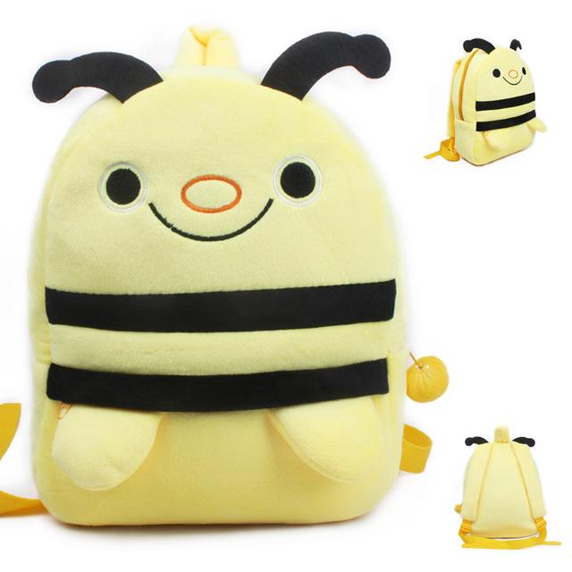 Новое поступление качество пчелка плюшевые мультфильм рюкзак дети характер школьников мешок подарки для детей возрастом 3 - 5 Mochila Infantil