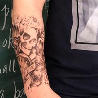 Временная татуировка Yc  back