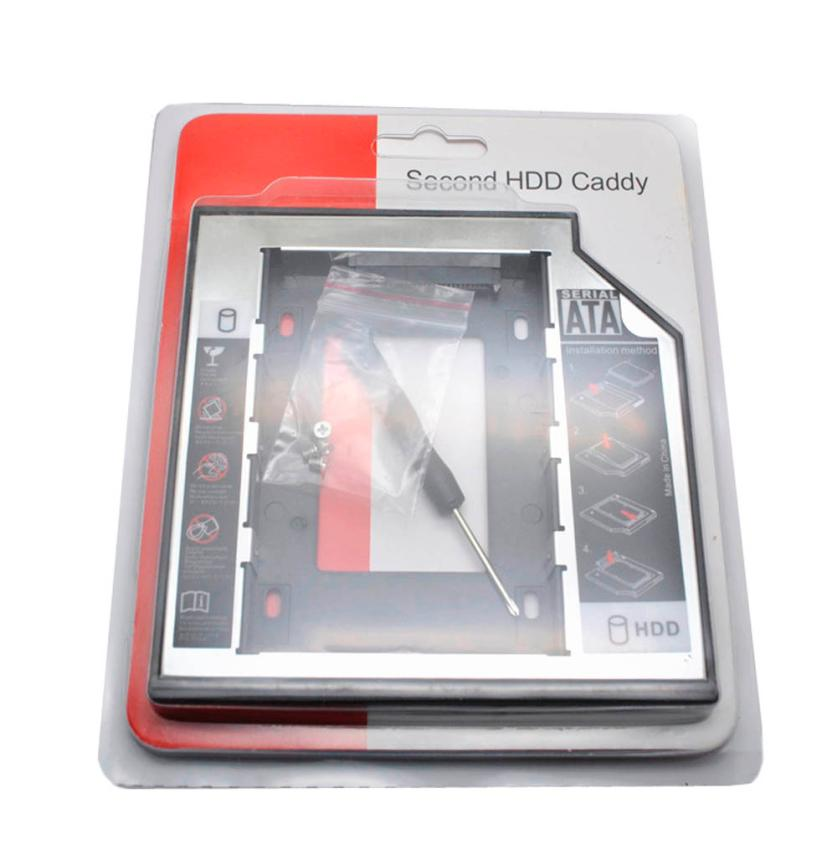 Best Price 12.7mm Universal SATA SSD 2nd HDD Hard Drive Caddy for CD/DVD-ROM Optical Bay For lenovo Sony(China (Mainland))