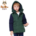 PCORA Boys Cotton Padded Coats Winter Thick Jackets Zipper Closure&Detachable Cap for 4T~14T Children Outerwear Tops Clothes