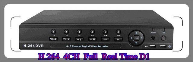Wholesale - 4 CH H.264 CCTV DVR Full Real Time D1 with AV Channel,Support 3G mobile phone monitoring,internet