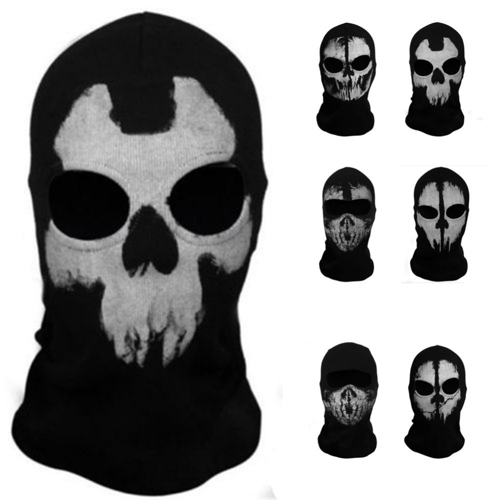 Skull Ghost Halloween Toy Cosplay Headgear Motorcycle Bicycle Ride Hood Mask Christmas Gift(China (Mainland))