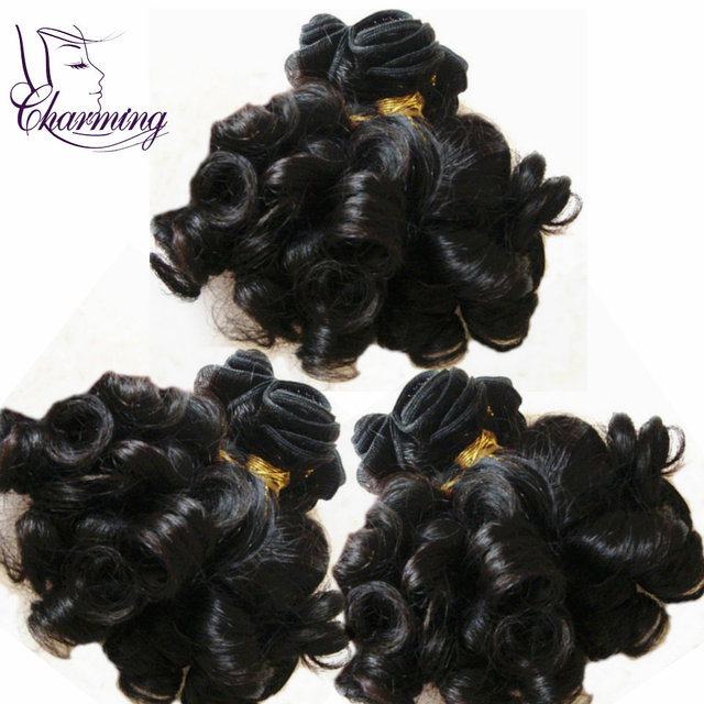 Charming Hair 3pcs Brazilian Curly Virgin Hair Weft Top Rated Virgin Human Hair Weaves 100% Aunty Funmi Hair Free Shipping