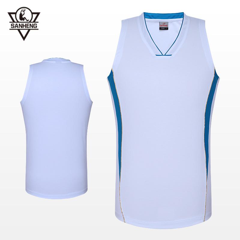 2016 Size L-6XL Brand SANHENG Custom Basketball Clothing Jersey 912103 (White)(China (Mainland))