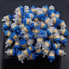 100pcs ATV Quad Petrol Gasline Fuel Filter Clear Inline Gas Fuel Dirt Pit Quad Minimoto Motorcycle Scooter frees shipping(China (Mainland))