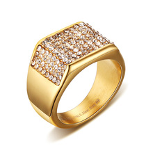 Buy SIZZZ CZ Rings Men Jewelry Gold Tone Engagement Ring for $7.19 in AliExpress store