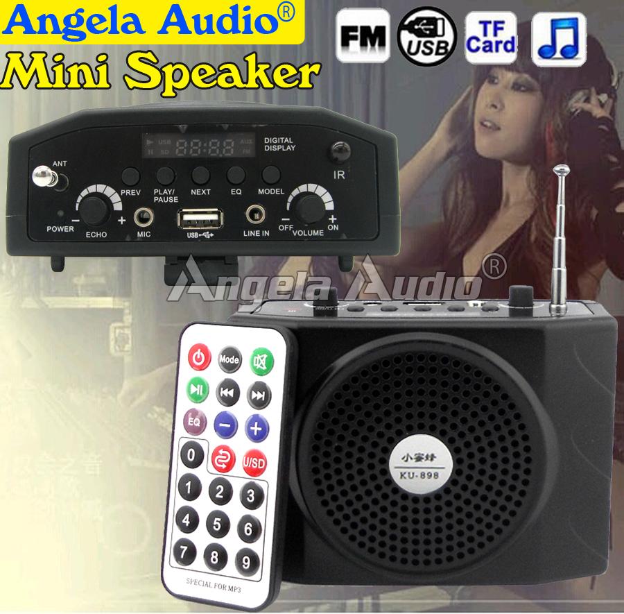 FM Radio Loudspeaker Portable Audio Player Amplifier Multi Function Megaphone Speaker For PC Teaching Tour Guide Sales Promotion