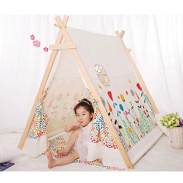acheter populaire 100 coton enfant tipi. Black Bedroom Furniture Sets. Home Design Ideas