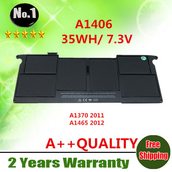 """Wholesale New laptop battery FOR APPLE MacBook Air 11"""" A1465(2012), A1370 (2011 ) Replace: A1406 free shipping"""