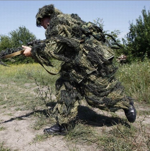Camouflage Clothing Hunting Camo Ghillie Suit Set Outdoor Sports&Entertainment Camouflage Clothes 22(China (Mainland))