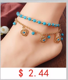 2016 Heart Female Anklets Barefoot Crochet Sandals Foot Jewelry Leg New Anklets On Foot Ankle Bracelets For Women Leg Chain JL01