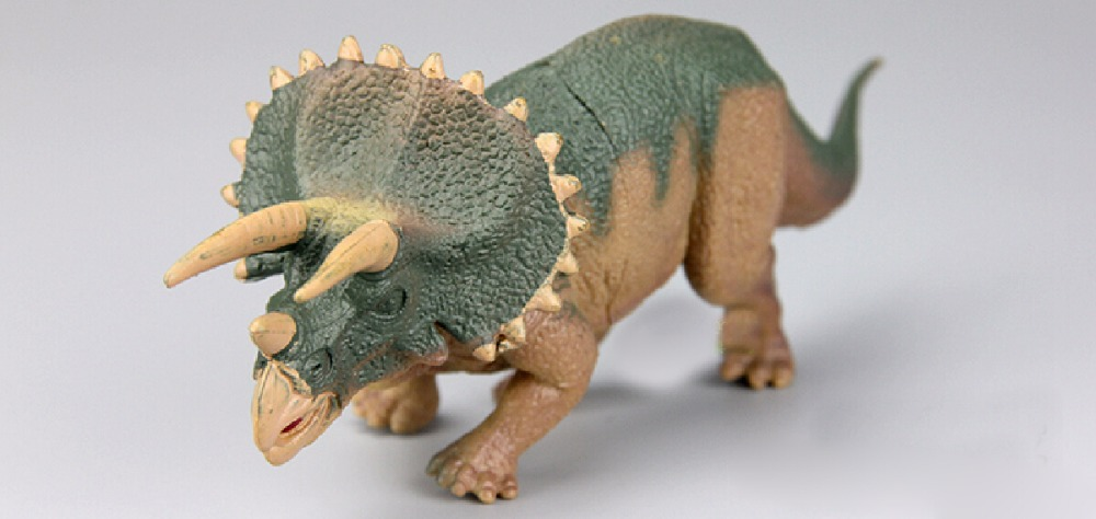 Triceratops dinosaur toys Action Figures Model Wild Animal PVC palaeobios plastic Boys Collections Toy Figure Children Gift(China (Mainland))