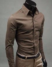 Free Shipping Men Shirt British Style Long Sleeve Male Slim Casual Clothes Men s Cothing White
